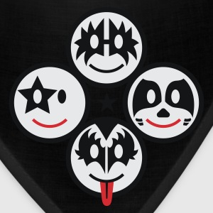 Smile Rock - Smiley Icons (quadratic) 3c T-Shirts - Bandana