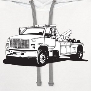 Tow Truck HD Design T-Shirts - Contrast Hoodie