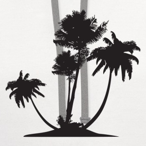 Palm Trees HD Design T-Shirts - Contrast Hoodie
