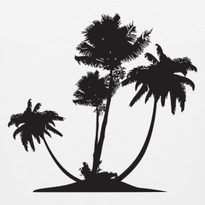 Palm Trees HD Design T-Shirts - Men's Premium Tank