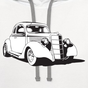 Classic Car HD Design T-Shirts - Contrast Hoodie