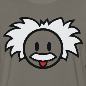 Smiley Einstein Icon 3c Kids' Shirts - Men's Premium Long Sleeve T-Shirt