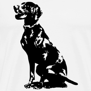 German Pointer Silhouette - Men's Premium T-Shirt