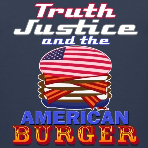 Truth Justice and the American Burger - Dark Tee - Men's Premium Tank