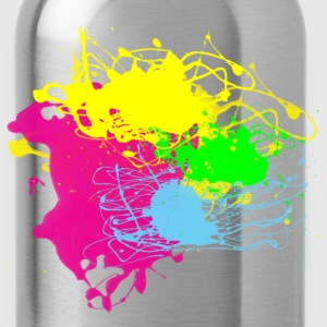 Colors Paint Splatter - Unisex Graffiti Graphic Design - Multicolor  - Water Bottle