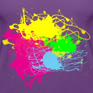 Colors Paint Splatter - Unisex Graffiti Graphic Design - Multicolor  - Women's Premium Tank Top