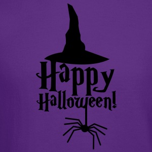 HAPPY HALLOWEEN with a spider and witches hat cute! T-Shirts - Crewneck Sweatshirt