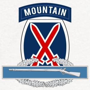 10th Mountain CIB T-Shirts - Contrast Hoodie