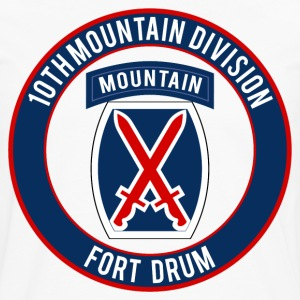 10th Mountain Ft Drum T-Shirts - Men's Premium Long Sleeve T-Shirt