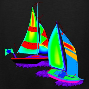 Children Art Sailboats - Men's Premium Tank