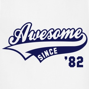 Awesome SINCE 1982 - Birthday Anniversaire T-Shirt BW - Adjustable Apron
