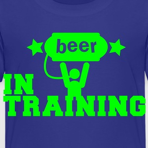 beer in training with lifting man and stars Kids' Shirts - Toddler Premium T-Shirt
