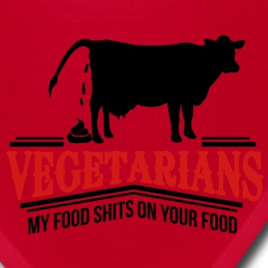 vegetarians - my food shits on your food Women's T-Shirts - Bandana