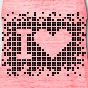 I heart - love - Pixel Design Kids' Shirts - Women's Flowy Tank Top by Bella