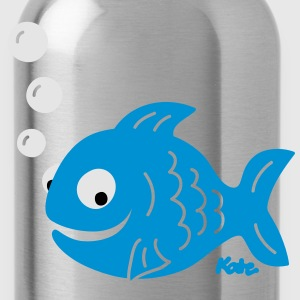 Funny Fish with Bubbles T-Shirts - Water Bottle