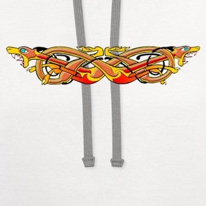 Celtic Illumination – Mad Dog Knot - Contrast Hoodie