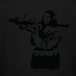 Banksy Mona Lisa Bazooka - Men's Tall T-Shirt