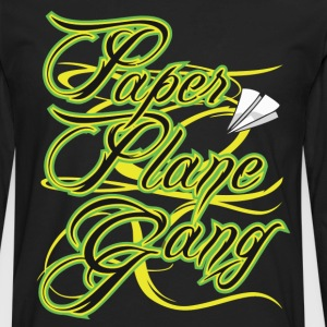 Paper Plane Gang T-Shirts - Men's Premium Long Sleeve T-Shirt
