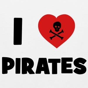 I Love Pirates T-Shirts - Men's Premium Tank
