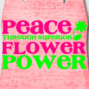 PEACE through superior flower power Kids' Shirts - Women's Flowy Tank Top by Bella