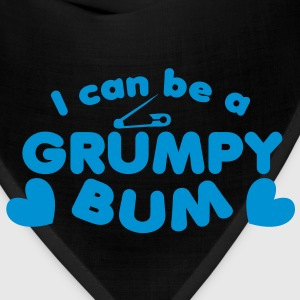 I can be a grumpy bum baby with a safety pin design Kids' Shirts - Bandana