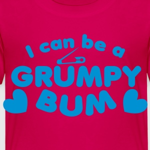 I can be a grumpy bum baby with a safety pin design Kids' Shirts - Toddler Premium T-Shirt