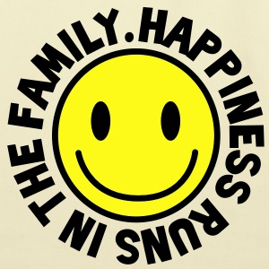 HAPPINESS runs in the FAMILY smiley Kids' Shirts - Eco-Friendly Cotton Tote