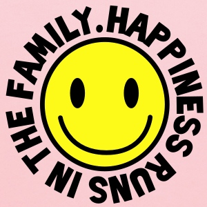 HAPPINESS runs in the FAMILY smiley Kids' Shirts - Kids' Hoodie