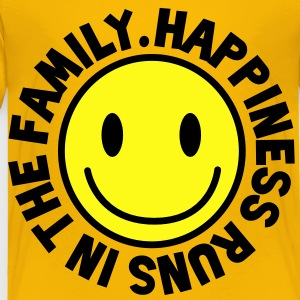 HAPPINESS runs in the FAMILY smiley Kids' Shirts - Toddler Premium T-Shirt