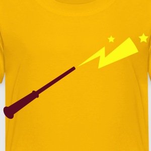 simple magic wand up with lightning strike across Kids' Shirts - Toddler Premium T-Shirt