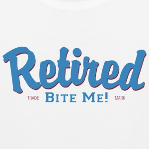 Retired Bite Me Retirement T-Shirt - Men's Premium Tank