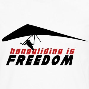 HG HANGGLIDING IS FREEDOM T-Shirts - Men's Premium Long Sleeve T-Shirt