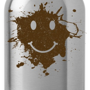 Mud Smiley Face Tee - Water Bottle