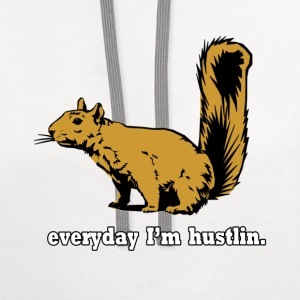 Hustlin Squirrel T-Shirts - Contrast Hoodie