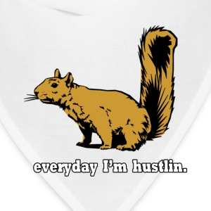 Hustlin Squirrel T-Shirts - Bandana