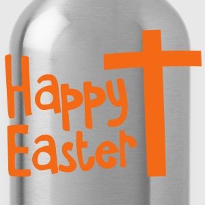 Happy EASTER with a Christian cross Toddler Shirts - Water Bottle