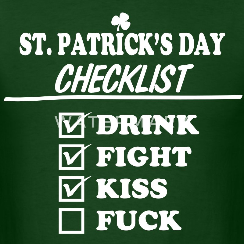 Goon - St. Patrick's Day Checklist (Dirty) - Men's - Men's T-Shirt