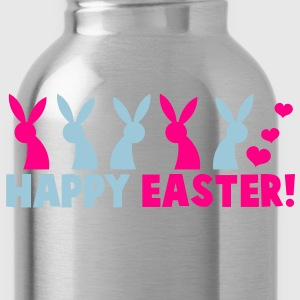 HAPPY EASTER! with a line of rabbits Toddler Shirts - Water Bottle