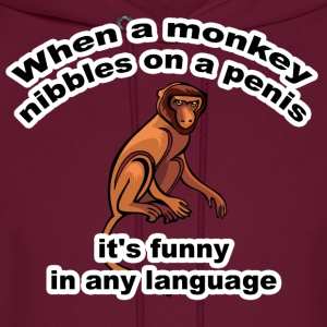 When a Monkey Nibbles T-Shirt - Men's Hoodie