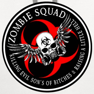 Zombie Squad 3 Ring Patch Revised T-Shirts - Contrast Hoodie