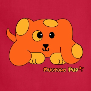 Mustard Pup Pudgie Pet - Designs by Melody Kids' Shirts - Adjustable Apron