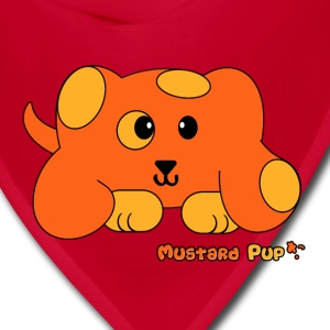 Mustard Pup Pudgie Pet - Designs by Melody Kids' Shirts - Bandana