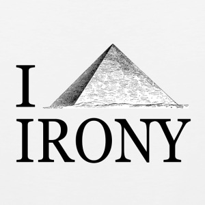 I Pyramid Irony T-Shirts - Men's Premium Tank