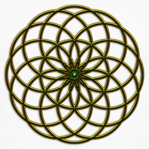 Flower of Life - Seed of Life - Tube Torus, DD gold-green, Sacred Geometry, Energy Symbol Women's T-Shirts - Men's Premium Long Sleeve T-Shirt
