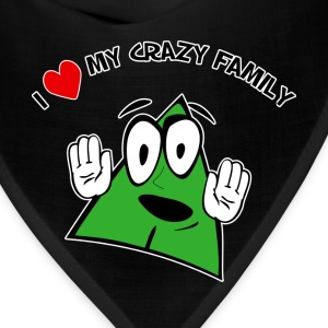 I Love My Crazy Family. TM  Mens Shirt - Bandana