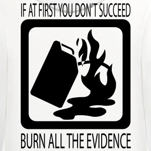 Burn The Evidence HD VECTOR T-Shirts - Contrast Hoodie