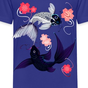 Yin and Yang Koi with Cherrry Blossoms - Toddler Premium T-Shirt