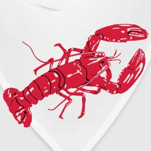 Lobster (red - white - black) T-Shirts - Bandana