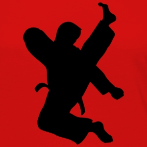 Taekwondo High Kick on red - Women's Premium Long Sleeve T-Shirt