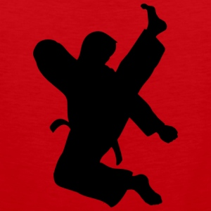 Taekwondo High Kick on red - Men's Premium Tank